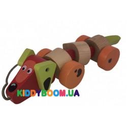 Деревянная игрушка-каталка Такса Cubika 13623