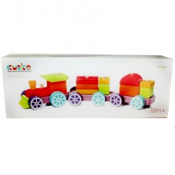 Деревянная игрушка Поезд Радужный экспресс LP-3 Cubika 12923