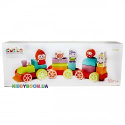 Деревянная игрушка Поезд Сокровища гномов LP-4 Cubika 12930