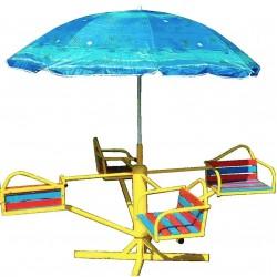 Карусель детская с зонтиком 603/кр