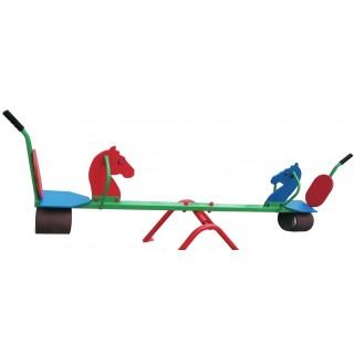 Качели-балансир со спинкой и амортизацией Лошадка 703/2МР