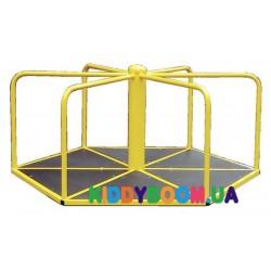 Шестиугольная детская карусель для катания стоя Dali 608/кр
