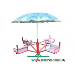 Карусель детская с зонтиком Dali 603/кр