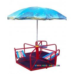 Карусель шестиместная с зонтиком Dali 604/кр