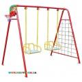 Качели  для двух детей (качели+баскетбольное кольцо+ гладиаторская сетка+дартс) 702/k