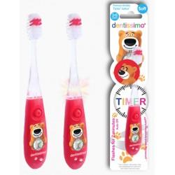 Зубная щетка Dentissimo Kid Timer (от 3 до 6 лет) красная 26803