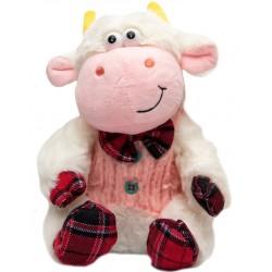 Мягкая игрушка Бычок в розовом жилете 20 см Devik toys 394547