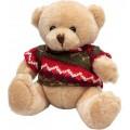 Мягкая игрушка Медвежонок в свитере 15 см, светло-желтый Devik toys 395025