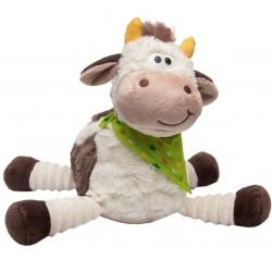 Мягкая игрушка  Бычок с платочком 22 см, белый Devik toys 395056