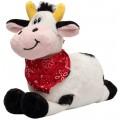 Мягкая игрушка Коровка с платочком 16 см, черно-белая Devik toys 395063