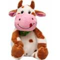 Мягкая игрушка Коровка с платочком 23 см, рыжая Devik toys 395094