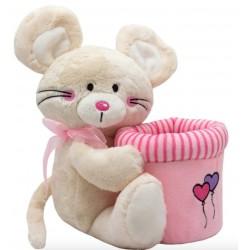 Мягкая игрушка Мышка с ведерком, 20 см Devik toys C1812120