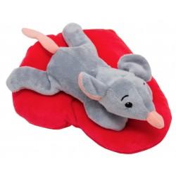 Мягкая игрушка Мышка с сердечком, 12 см Devik toys M1819712A