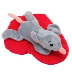 Мягкая игрушка Мышка с сердечком, 19 см Devik toys M1819719