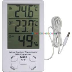 Термометр-гигрометр с внешним датчиком температуры TA298