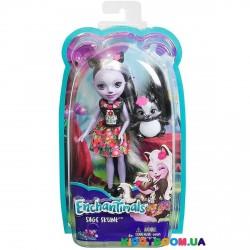 Кукла с питомцем Скунсик Сэйдж Enchantimals FJJ21