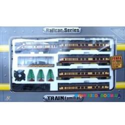 Железная дорога Паровоз с пассажирскими вагонами Fenfa 1601В-3АВС