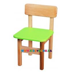 Стульчик деревянный цветной Финекс Плюс 012