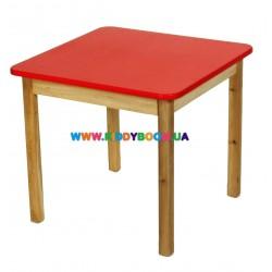 Стол деревянный красный Финекс Плюс 025