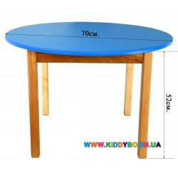 Стол деревянный круглый цветной Финекс Плюс 031
