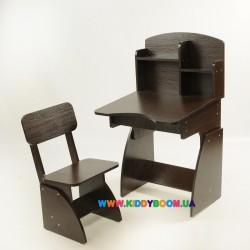 Парта и стульчик растущая, Венге Финекс Плюс 113