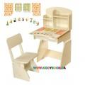 Парта и стульчик растущая, Белая Финекс Плюс 114