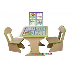"""Игровой набор """"Обучающий"""" столик и 2 стульчика Финекс Плюс 301"""