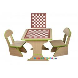 """Игровой набор """"Шахматы"""" столик и 2 стульчика Финекс Плюс 302"""
