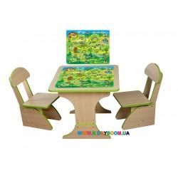 """Игровой набор """"Игра"""" столик и 2 стульчика Финекс Плюс 303"""