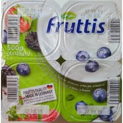 Йогурт Fruttis Черника и Лесные ягоды, 4х125гр