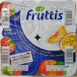 Йогурт Fruttis Клубника и Персик-Маракуя (5,8%), 4х125гр