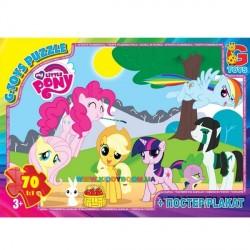 Пазлы My little Pony, 70 элементов G-Toys MLP002