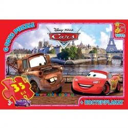 Пазлы Тачки в Париже, 35 элементов G-Toys Z10216