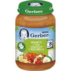 Пюре Gerber Рагу овощное со спагетти и сыром моцарелла в томатном соусе 190 г