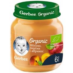 Фруктовое пюре Gerber Органические Яблоко, персик и абрикос 125 г