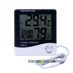 Термометр-гигрометр цифровой с внутренним и внешним датчиком HTC-2