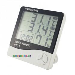 Термометр-гигрометр цифровой с внутренним и внешним датчиком HTC-2M