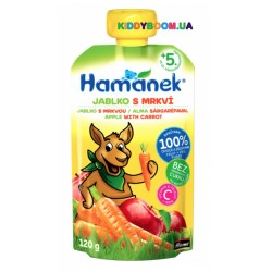 Детское пюре Hame Hamanek Pouch яблоко и морковь (с 5-ти мес.) 120 г