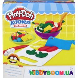 Набор для творчества Hasbro с пластилином Play-Doh Приготовь и нарежь В9012