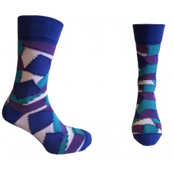 Носки мужские цветные HIPSTORY р.40-43 фиолетовые