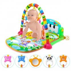 Развивающий коврик для новорожденного HE0603 с пианино и игрушками Мятный