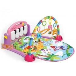 Развивающий коврик для новорожденного HE0604 с пианино и игрушками Розовый