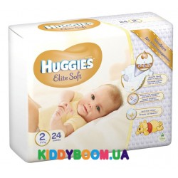 Подгузники Huggies Newborn EliteSoft 2 (4-7 кг) 24 шт.