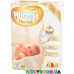 Подгузники Huggies Newborn EliteSoft 2 (4-7 кг) 66 шт.