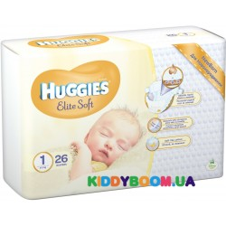 Подгузники Huggies  Newborn EliteSoft 1 (2-5 кг) 26 шт.