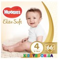 Подгузники Huggies Elite Soft 4 (8-14 кг), 66 шт.