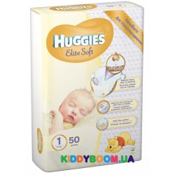 Подгузники Huggies Newborn EliteSoft 1 (2-5 кг) 50 шт