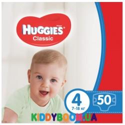 Подгузники Huggies Classic 4 (7-18 кг) JP 50 шт.