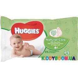 Влажные салфетки Huggies Natural Care с алоэ 56 шт