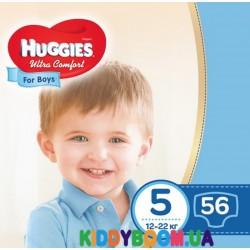 Подгузники для мальчика Huggies Ultra Comfort 5 (12-22 кг) 56 шт.